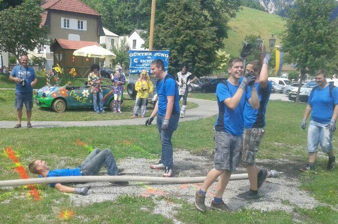 Voller Einsatz unserer Teilnehmer: Mani, Marcus, Oliver, Christoph und Markus