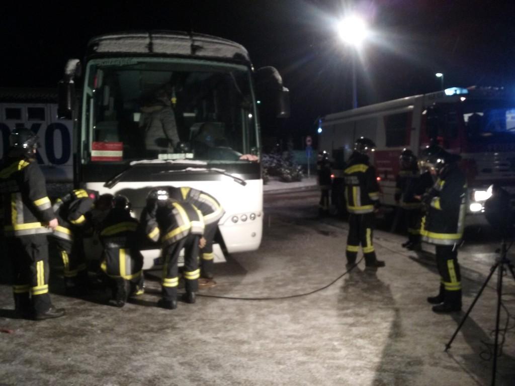 der defekte Bus konnte nach rund einer Stunde die Heimreise wieder antreten