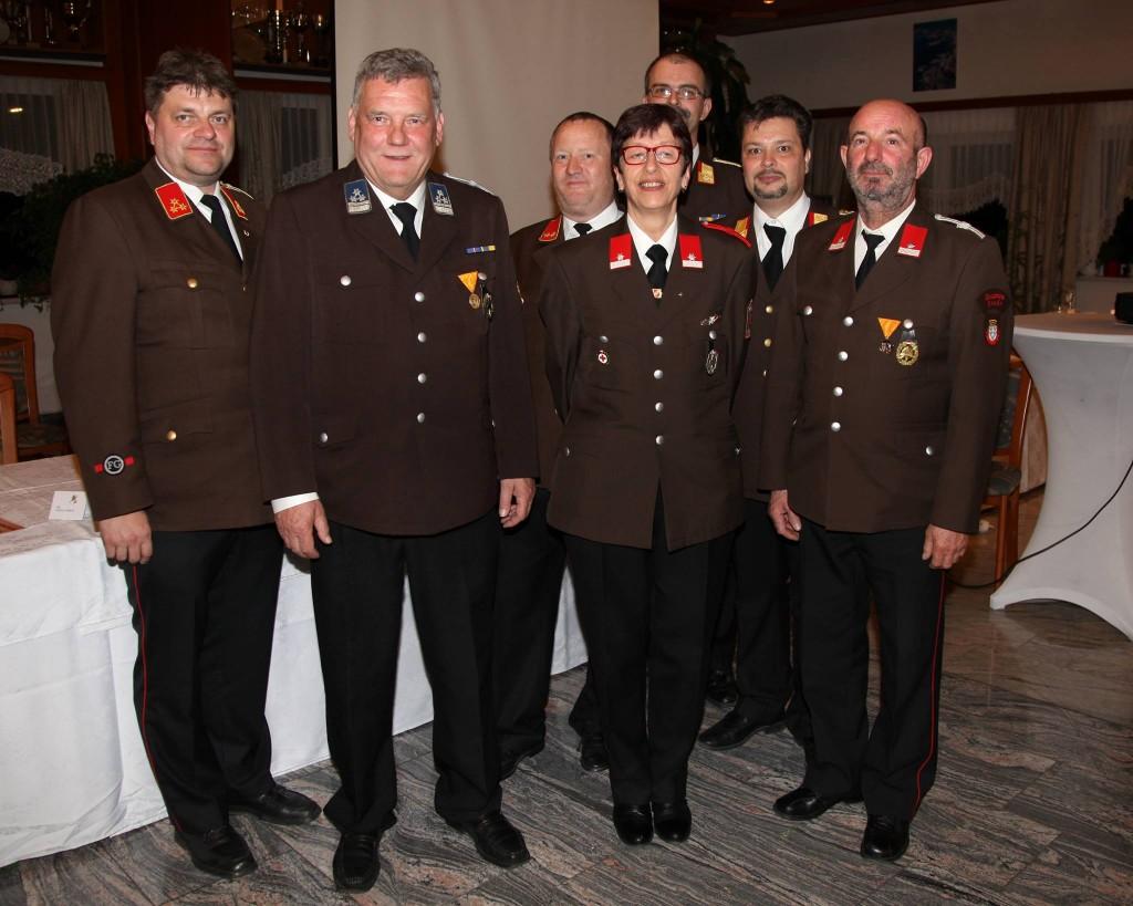 HBI Michael Köpf, EVM Georg John, OBI Sig Borlak, ASB Christine Scheuhammer, ABI Marc Maierhofer, BR Thomas Rauch, LM Robert Hatzl