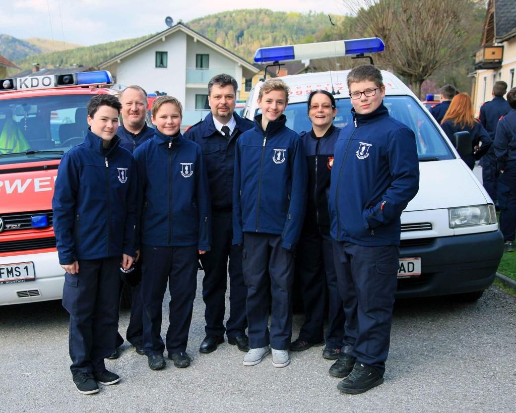 Martin Prasch, Sigi Borlak, Sebastian Schlitz, Tommy Rauch, Stefan Fasch, Babsi Kern und Thomas Kufner (Foto Erich Kodym)